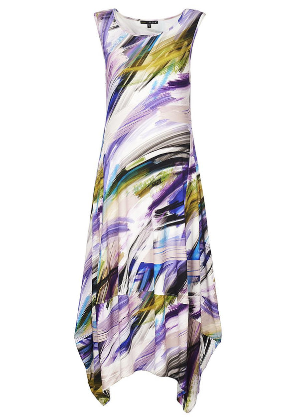 Brushstroke Lantern Dress