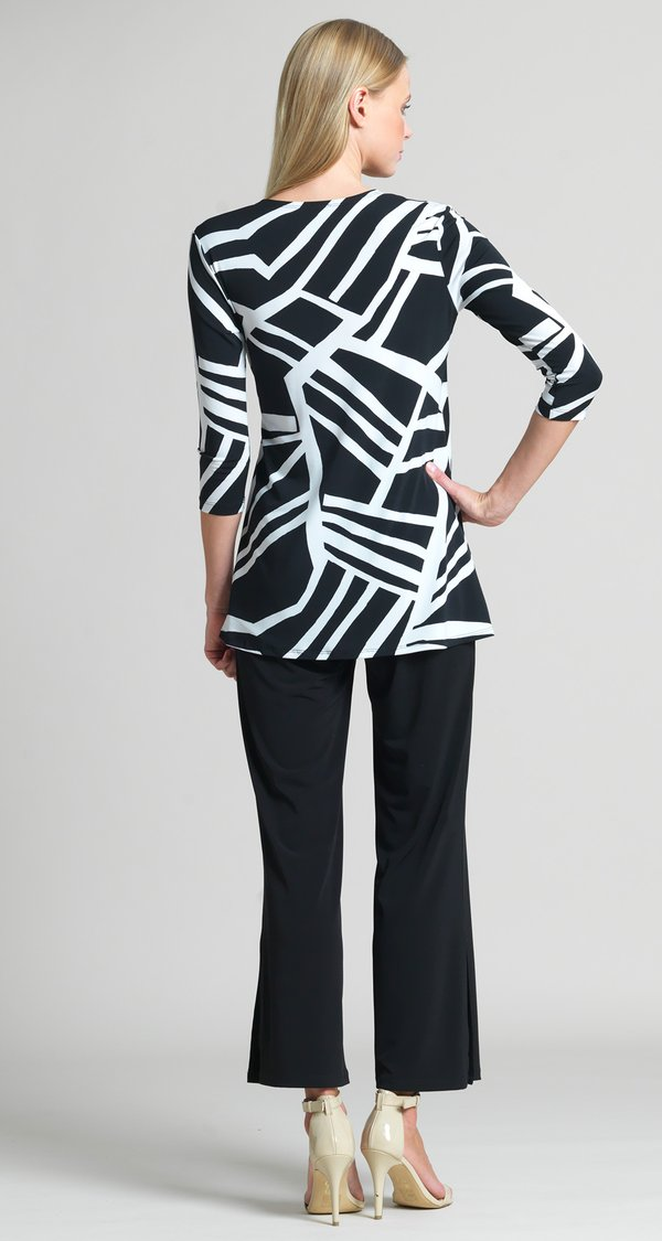 Mix Stripe Tie Tunic