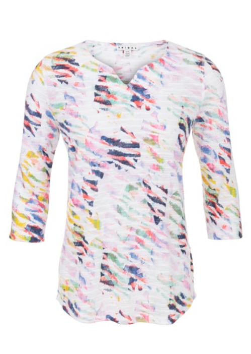 Colorful Brush Strokes Top