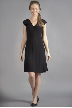 Twist Dress Solid Black
