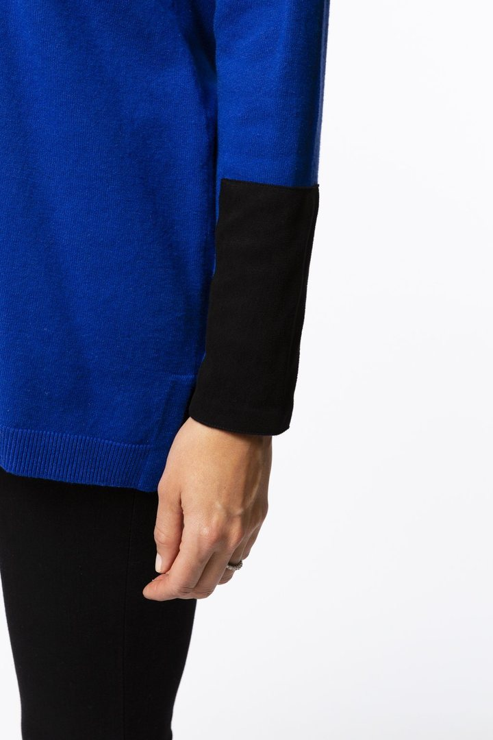 Lapis Cotton Cashmere Top