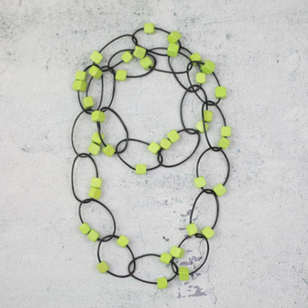Lime Loop Necklace