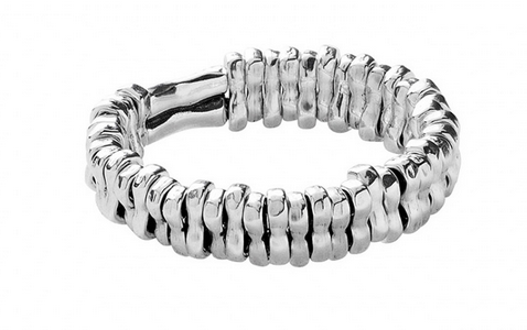 Statement Silver Stretch Bracelet