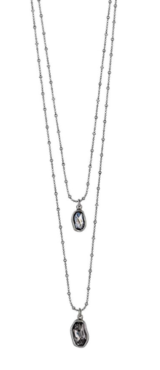 De Puntillas Swarovski Double Crystal Necklace