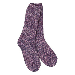 Purple Tweed Rib Crew Sock