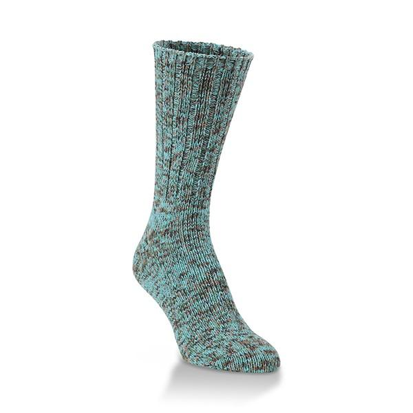 Turq Tweed Rib Crew Sock