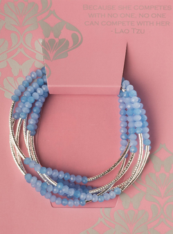 Wrap periwinkle combo/silver