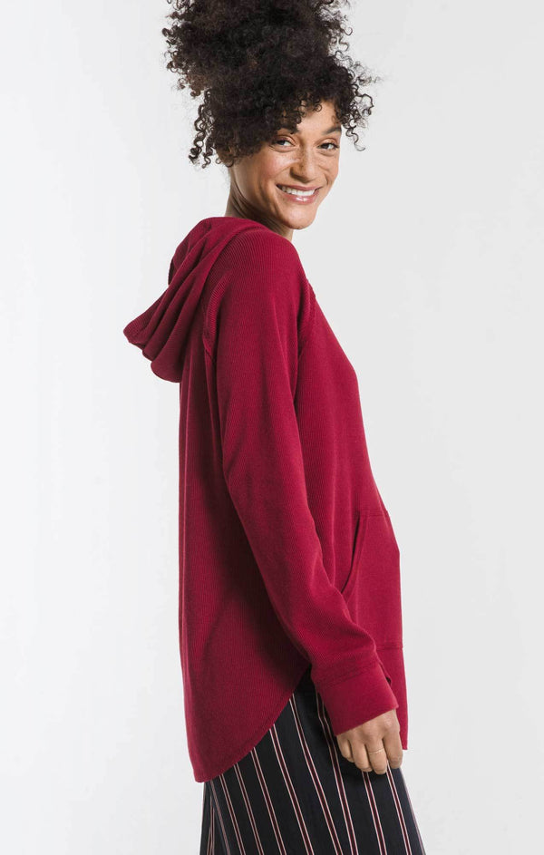 Red Thermal Pullover