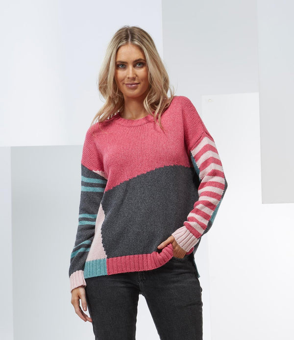 Azalea Stripe Mix Sweater