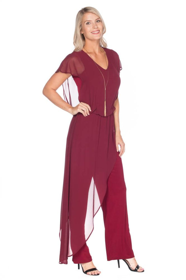 Burgundy Chic Jumpsuit