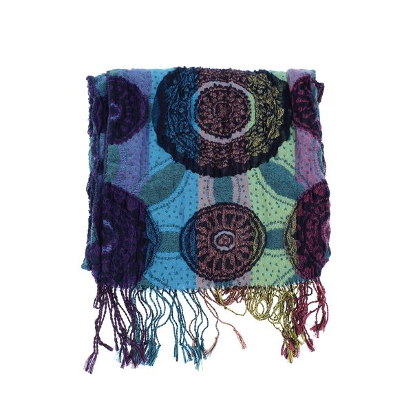 Teal Mandala Stretch Scarf