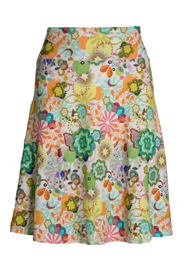 Bright Floral Flare Skirt