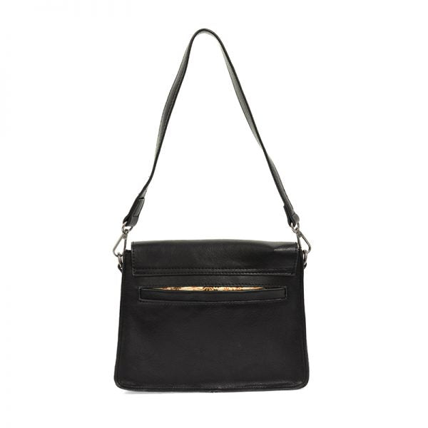 Black Convertible Buckle Handbag