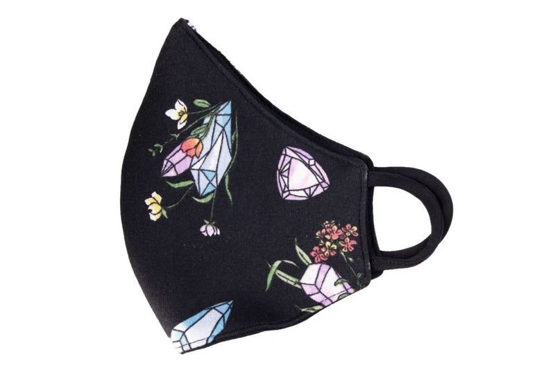 Crystal Flower Stretch Face Mask