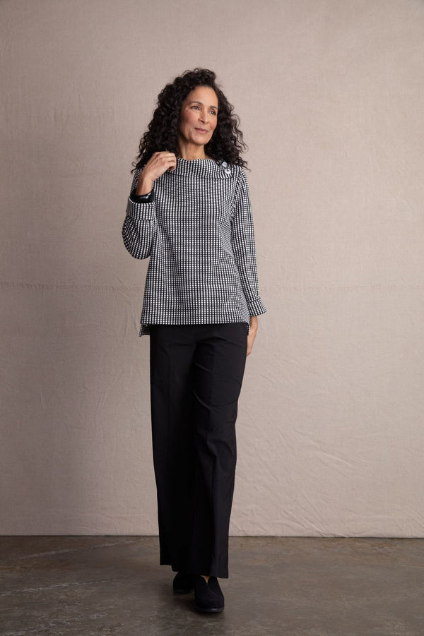 Natural Fleece Dot Pullover