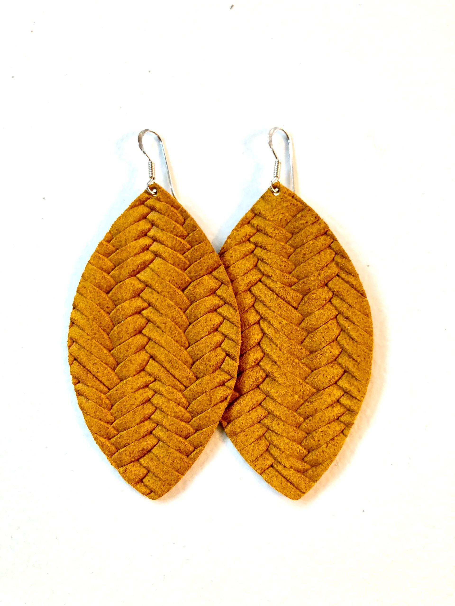 Surf's Up Marigold Braided Leather