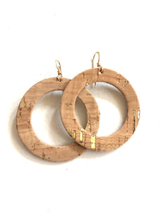 Thin O Natural Cork w Gold