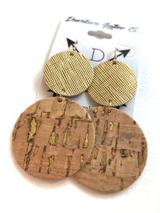 Double Big O Gold Medal Leather /Natural Cork w Gold