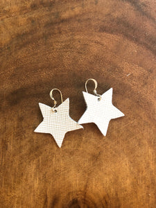 Little Stars White Saffiano