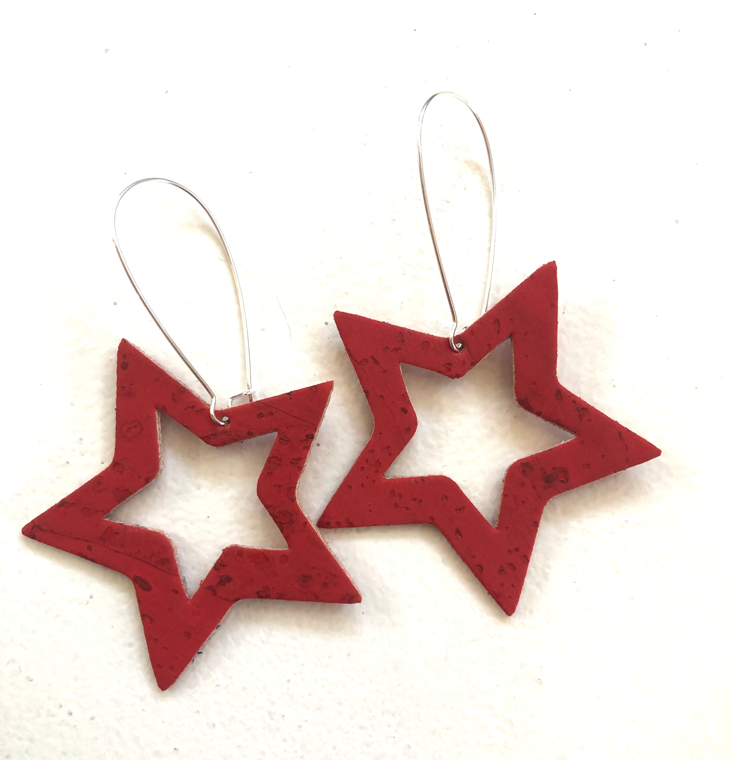 Cut it Out Stars Really Red Cork