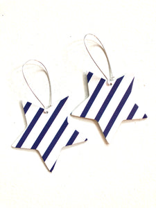 Big Stars Navy & White Striped