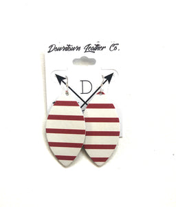 Gidget Red & White Striped Leather