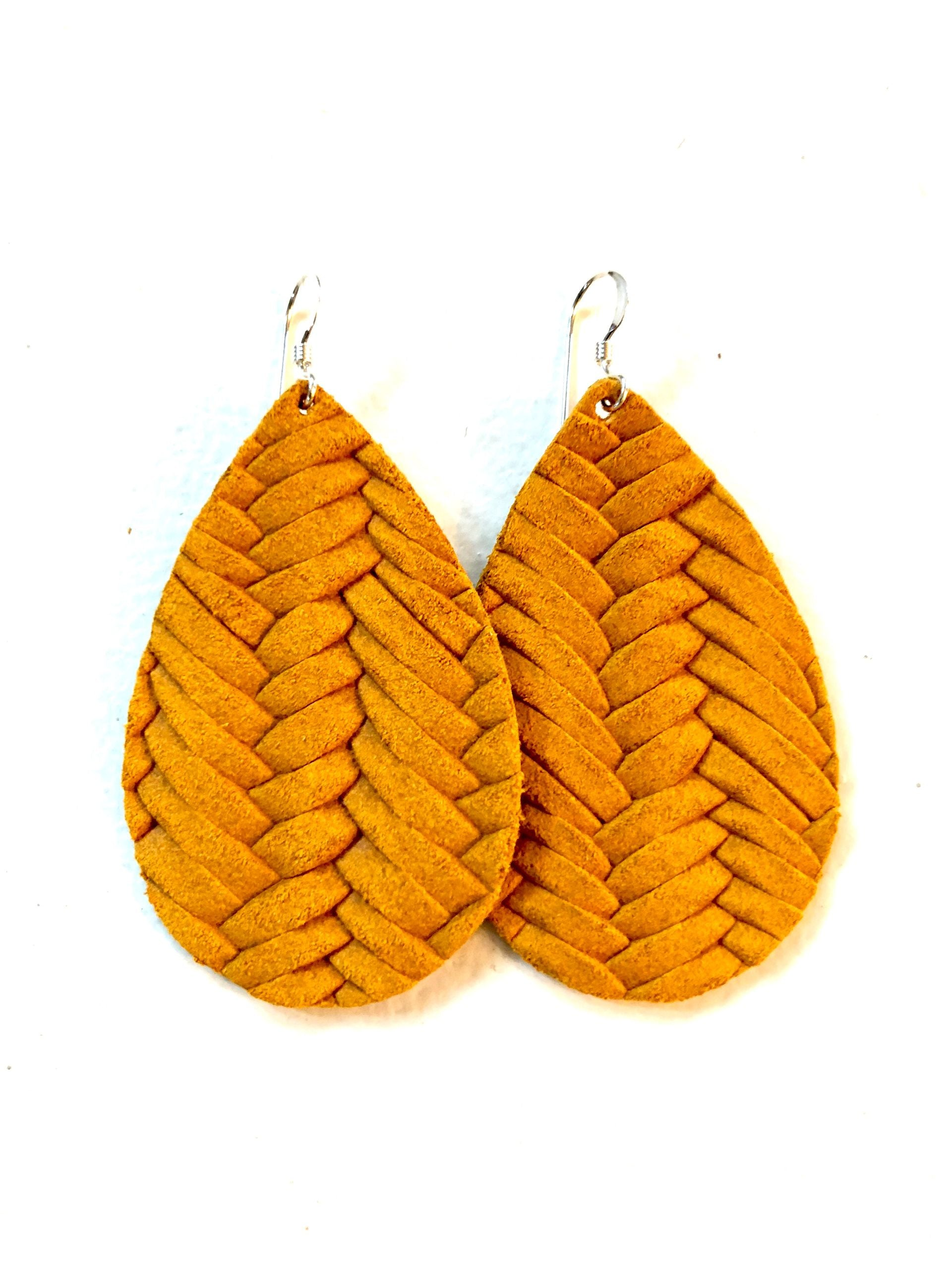 Marigold Braided Leather