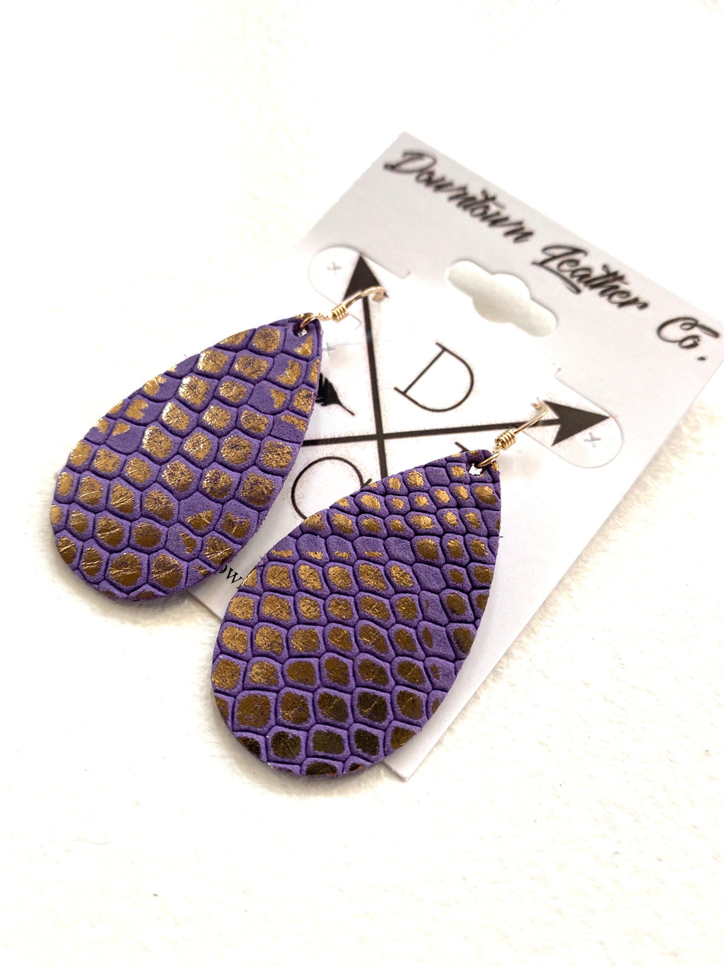 Baby Tear Purple Python Leather
