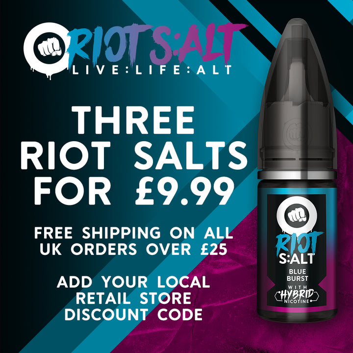 Three Riot Salts for £9.99