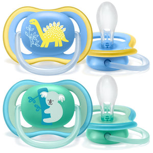 Chupeta Ultra Air Dupla - Avent - Decorada - Menino - (18M+)