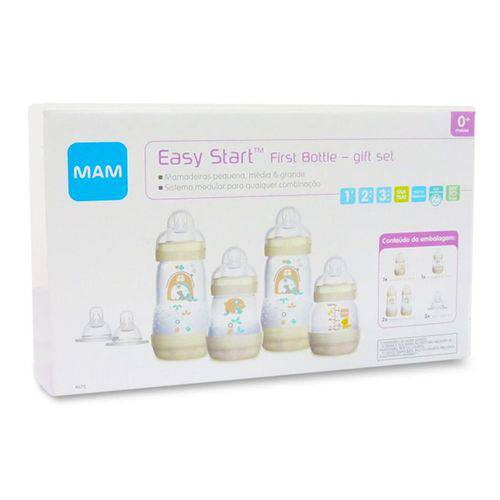 Mamadeira Easy Start Gift Set com 4 Und. Mam - Girls - (0M+)