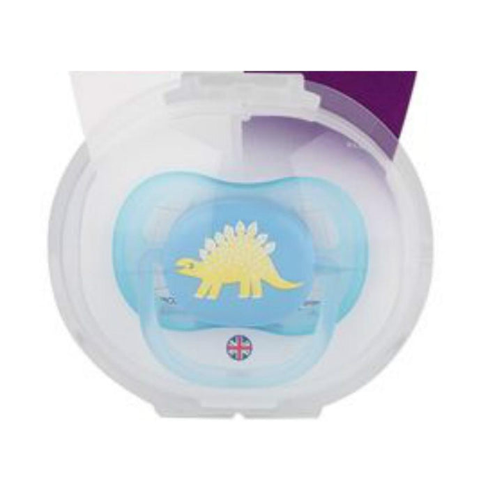 Chupeta Ultra Air Decorada - Avent - Azul - Dinossauro - (0-6M)