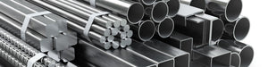 Large inventory of steel, aluminum, stainless, and brass