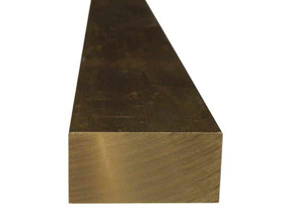 Brass Flat Bar 1/2 x 1 (Grade 360) - inchofmetal