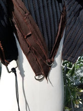 Charger l'image dans la galerie, Cosplay Larp medieval fantasy hood - Black and Brown - Post apocalypse fashion - Burning Man - Wasteland