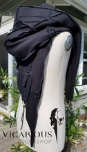 Charger l'image dans la galerie, Black LARP hooded shoulder cape