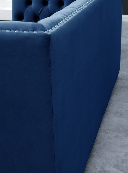 Chester 2 Seater Sofa Royal Blue - AR Furnishings - Specialists In Bringing Luxury Into Your Home.