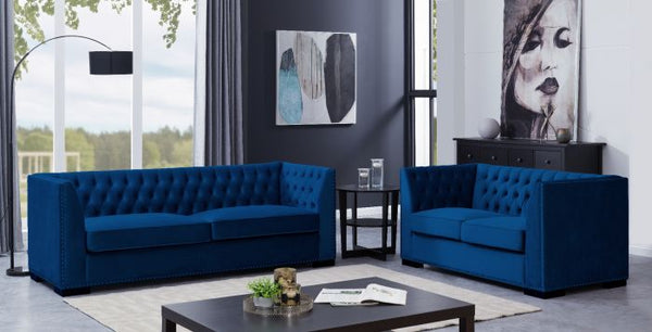 Chester 3 Seater Sofa Royal Blue - AR Furnishings - Specialists In Bringing Luxury Into Your Home.