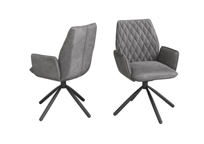 Zanetti Dark Grey Velvet Dining Chair - AR Furnishings - Specialists In Bringing Luxury Into Your Home.