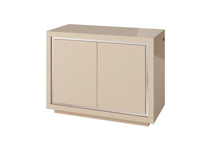 Sardinia 120cm 2 Door Cream High Gloss Sideboard With LED - AR Furnishings - Specialists In Bringing Luxury Into Your Home.