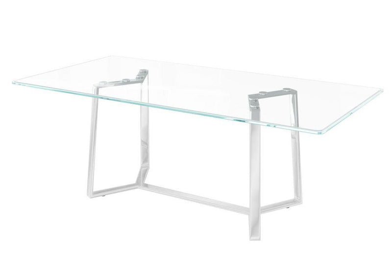 Alberto 160cm Glass Dining Table - AR Furnishings - Specialists In Bringing Luxury Into Your Home.