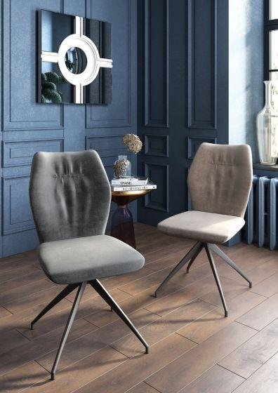 Sena Dark Grey Velvet Dining Chair - AR Furnishings - Specialists In Bringing Luxury Into Your Home.