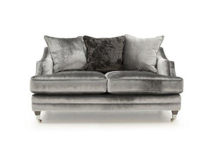 Belvedere 2 Seater Fabric Sofa with 3 Seater Scatter Cushions - Pewter - ImagineX Furniture & Interiors
