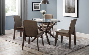 Julian Bowen Chelsea Glass Dining Table & 4 Chairs