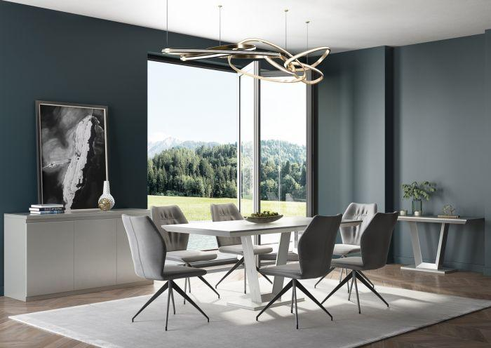 Vivaldi Matt Grey High Gloss Console Table - AR Furnishings - Specialists In Bringing Luxury Into Your Home.