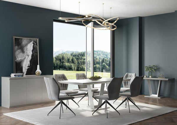 Vivaldi 160 Rect Matt White High Gloss Dining Table - AR Furnishings - Specialists In Bringing Luxury Into Your Home.