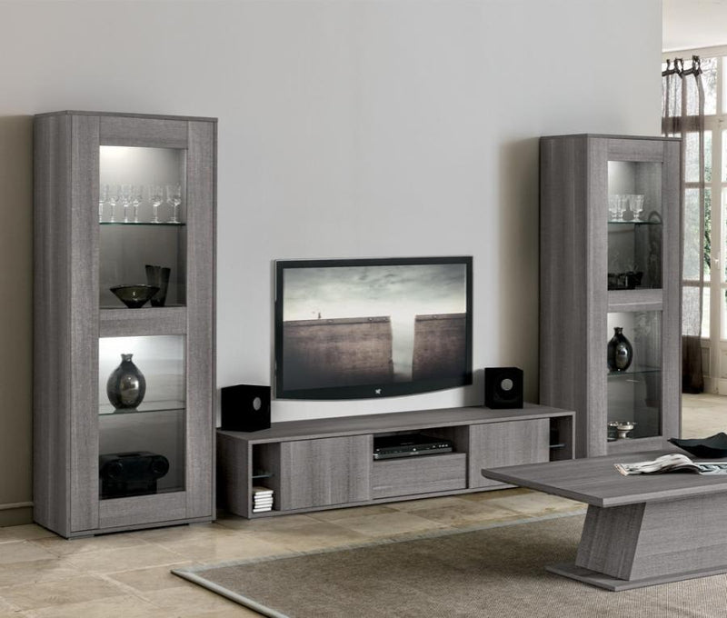 Futura Day Grey Sawmarked Italian Oak TV Unit - AR Furnishings - Specialists In Bringing Luxury Into Your Home.
