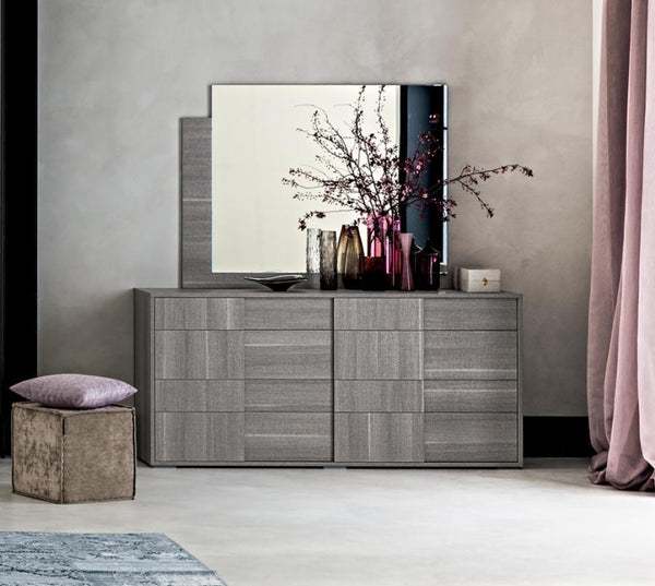Futura Night Grey Sawmarked Italian Oak Double Dresser - AR Furnishings - Specialists In Bringing Luxury Into Your Home.