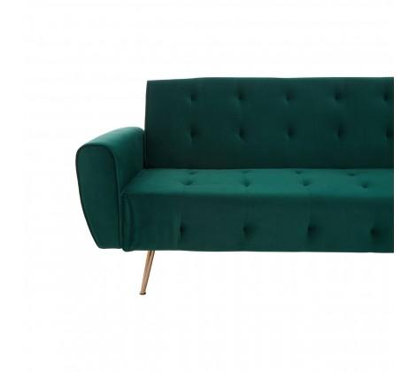 Hayton Green Velvet Sofa Bed