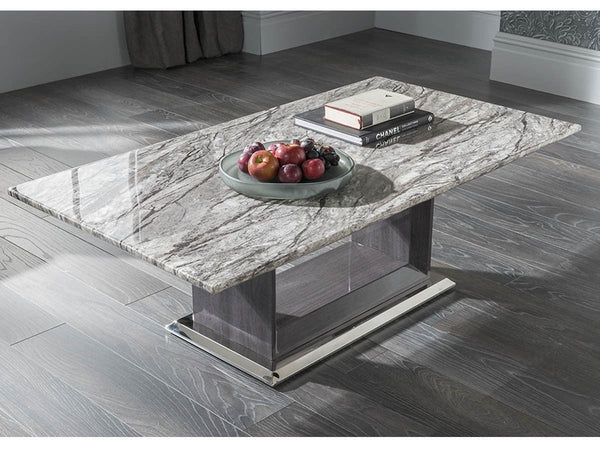 Donatella Grey Marble Coffee Table - AR Furnishings - Specialists In Bringing Luxury Into Your Home.